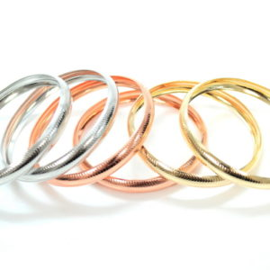 6 Bronze, Silver And Gold Bangles-0