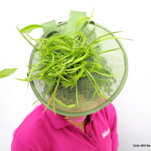 Green Fascinator-0