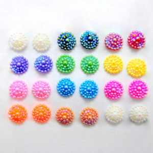 12 Pairs of assorted Multicolor flower earrings-0