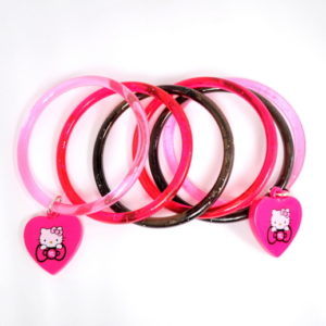 6 Hello Kitty Bracelets With Charm-0