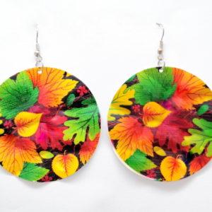 Autumn Leaves Multicolor Chandelier Earrings-0