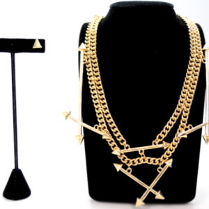 Gold Arrow Necklace Set-0