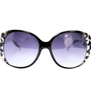 Black And White Leopard Diva Sunglasses-0