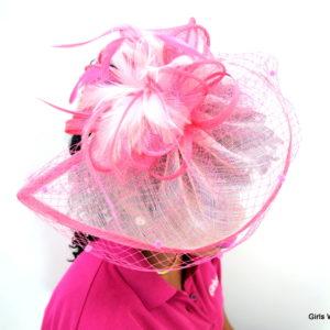Pink Fascinator-0