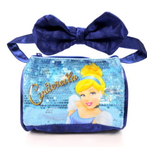 Blue Sparkle Cinderella Bag With Bow-0