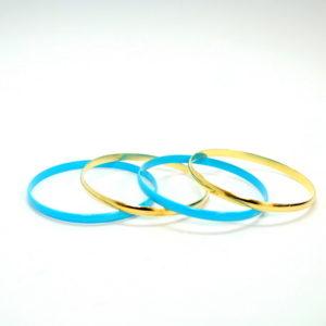 Blue And Gold Bracelets-0