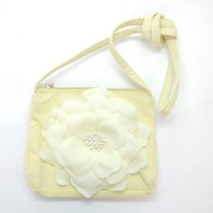 Flower Beige Tote Bag -0
