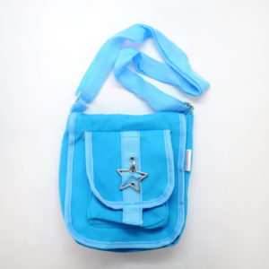 Blue Tote Bag With Star Buckle-0
