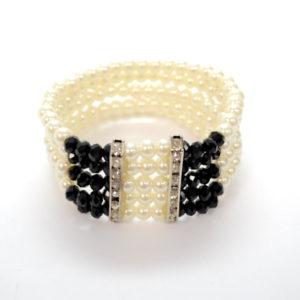 Black And White Pearl Bracelet-0