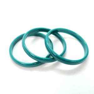 A Set Of 3 Green Bangles-0