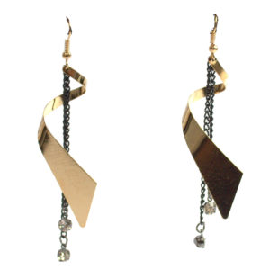 Black And Gold Earrings-0
