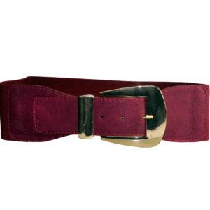 Burgundy And Gold Cummerband Belt-0