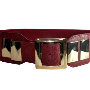 Red And Gold Cummerband Belt-0