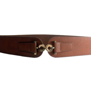 Light Brown With Gold Infinity Buckle Cummerband Belt-0