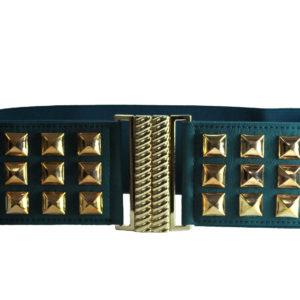 Gold And Teal Cummerband Belt-0