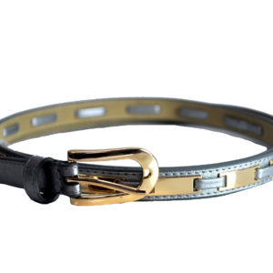 Silver And Gold 'Slim' Belt-0