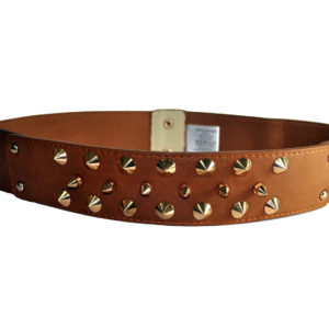 Light Brown With Studs Cummerband Belt-0