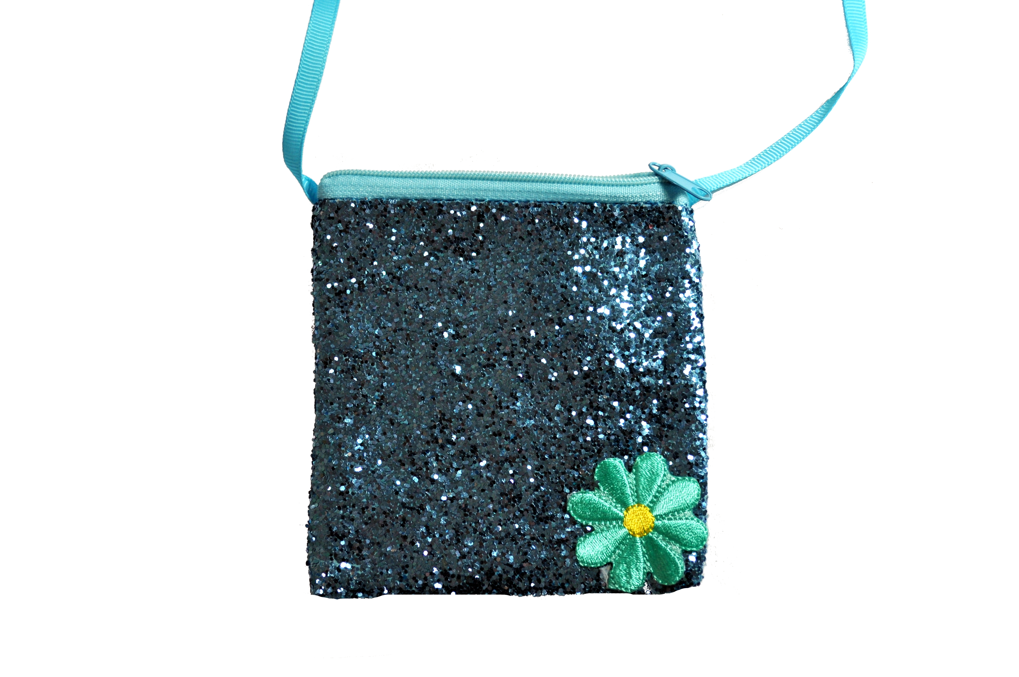 Blue Sparkles With A Flower Girls Bag-0