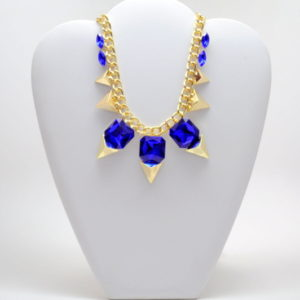 Blue And Gold Necklace-0