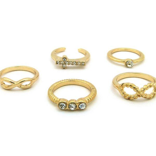 5 Gold Midi Rings-0