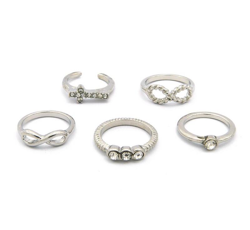 5 Silver Midi Rings-0