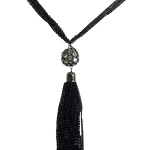 Black Chained Necklace Set-0