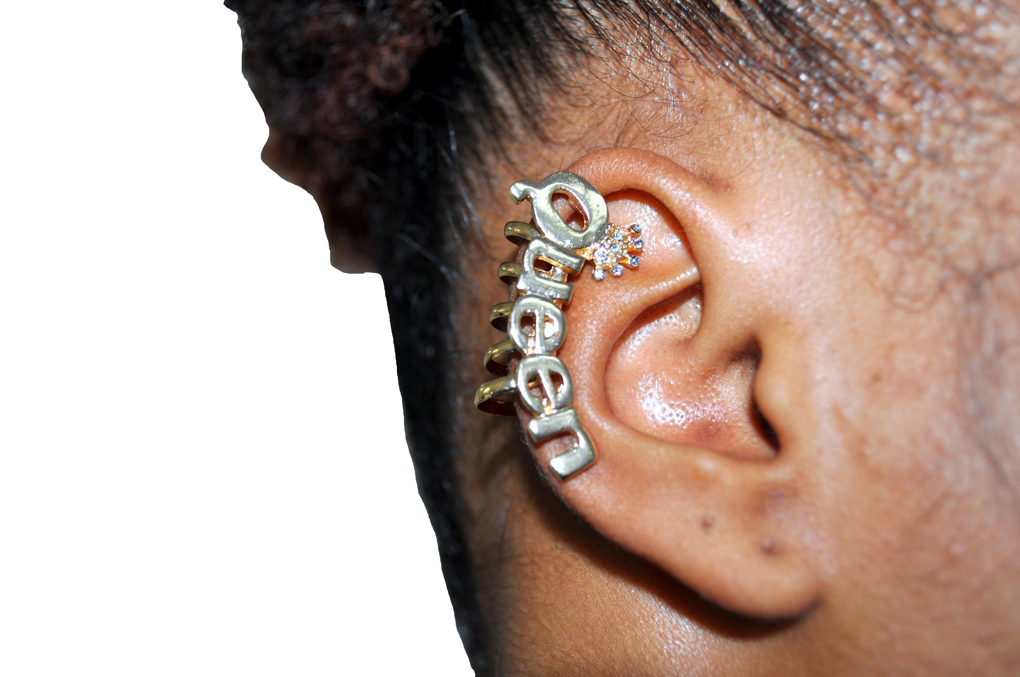 """Queen"" Clip-On Earring-0"